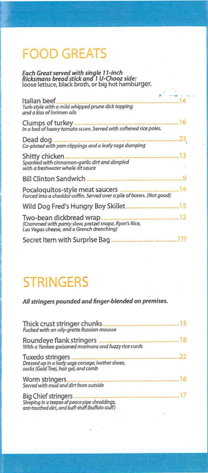 The Great GoogaMooga Disaster Was Worth It, If Only for This Incredible Fake Menu (UPDATE)