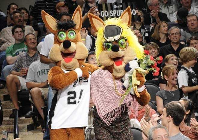 The Spurs Mascots Are Stealing Your Soul