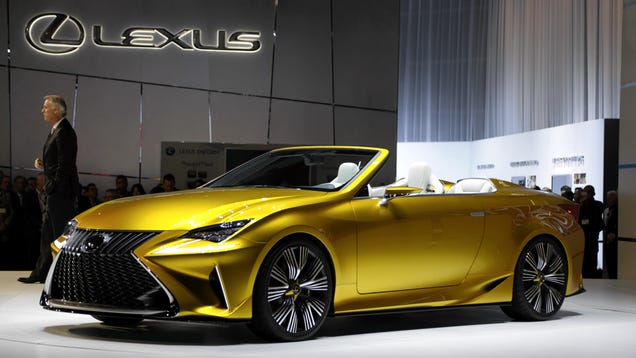 The Lexus LF-C2 Concept Is Roofless, but very sexy