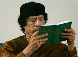 Qaddafi Tries Old Mannequin Piloting a Boat Bomb Trick