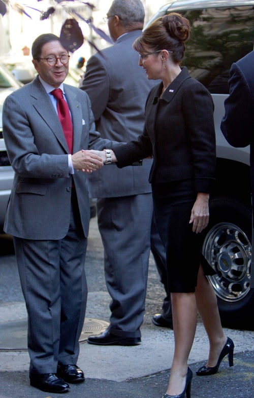 Sarah Palin Meets The Leader Of A Foreign Country