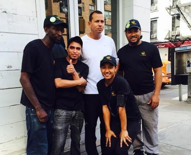 A-Rod Looks Thrilled To Be In This Group Photo