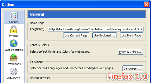 The History of Firefox 1.0 to 3.0 in Screenshots