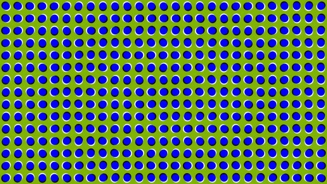 Why does this still image appear to move?