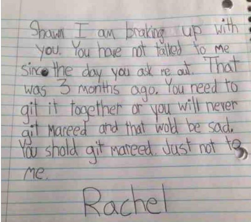Little Girl's Breakup Note Totally Nails It