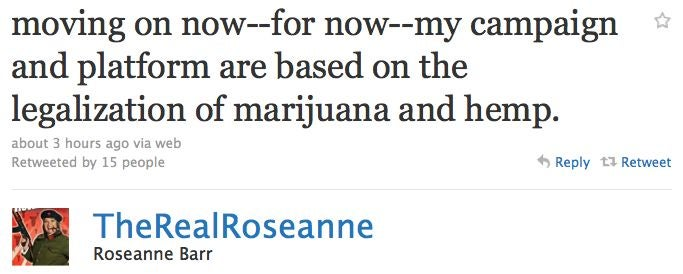 Roseanne Wants To Legalize Marijuana
