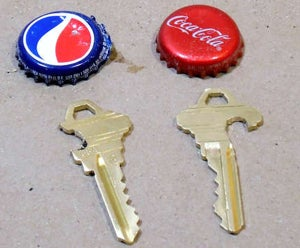 carve a bottle opener into your house key for pocket friendly drink liberation. Black Bedroom Furniture Sets. Home Design Ideas