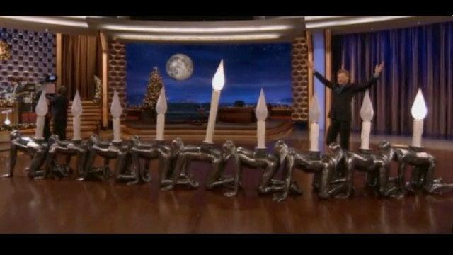 Celebrate Hanukkah with Conan O'Brien's Human Centipede Menorah