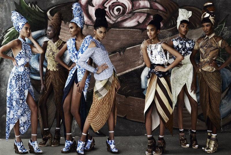 Italian Vogue's New All-Black Fashion Spread