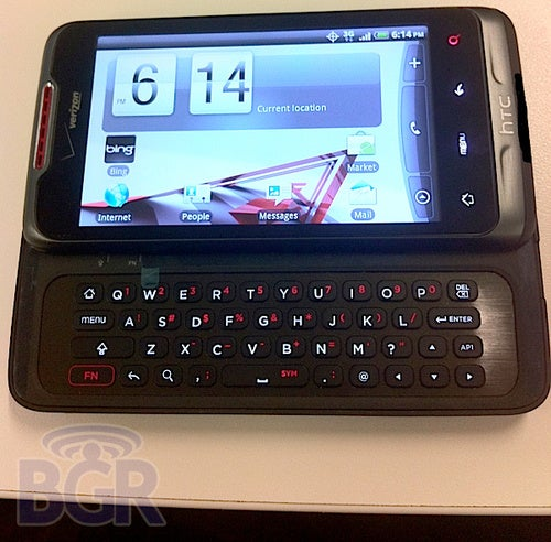 Suave Black QWERTY Android From HTC Leaks Out Bearing Verizon Logo