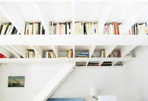 Convert Rafter Spaces into Book Shelves