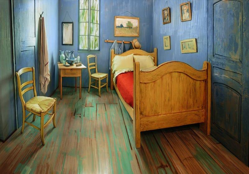 Ahora puedes alquilar una versión a escala natural del dormitorio de Van Gogh en Airbnb