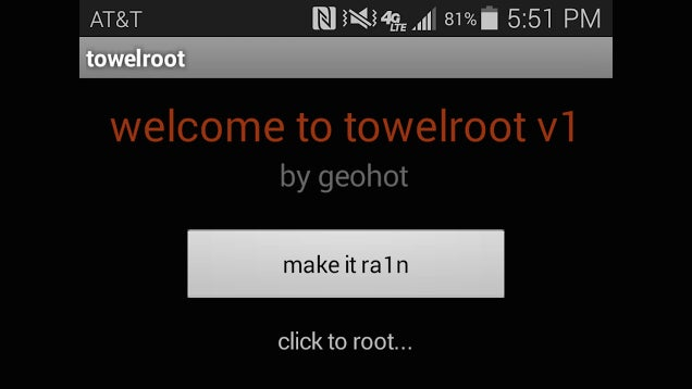 Towelroot Roots Many KitKat Devices in One Tap, No PC Required