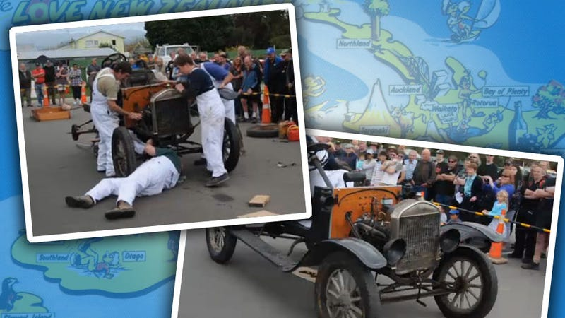 Watch A Bunch Of Kiwis Assemble A Model T In Under Three Minutes