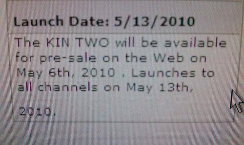 Microsoft Kin Phones Shipping May 13?