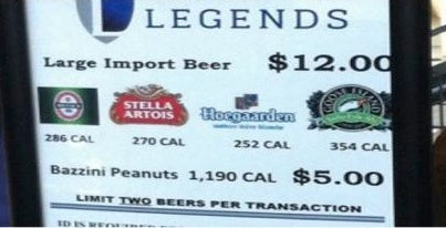 "Two Of The Yankees' Four ""Import Beers"" Are Not Imported"