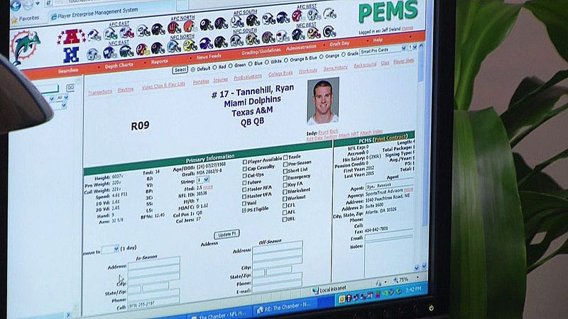 Last Night On Hard Knocks, We Learned What NFL GMs Use As Their Version Of Facebook (And Got Ryan Tannehill's Cell Number)