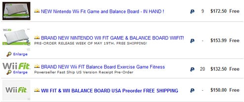Wii Fit Going For Silly Prices, To Silly People, On Ebay