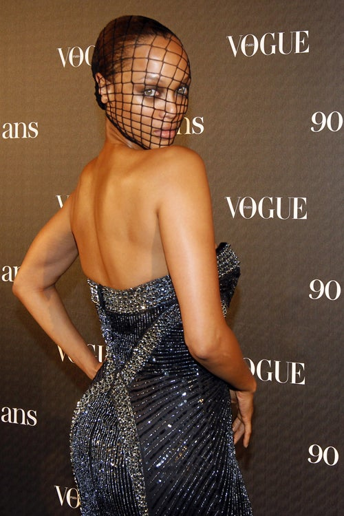 Tyra Banks Made Her Own Couture Mask For French Vogue Party