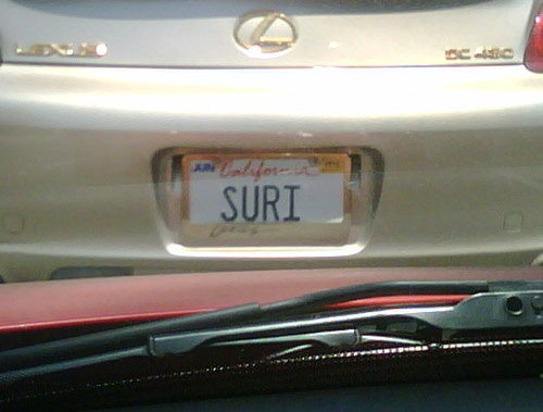 Suri Cruise is Riding Around L.A. on a Gold Lexus