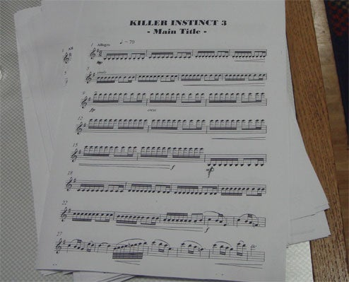 Killer Instinct III Unveiled Via...Sheet Music (Huh?)
