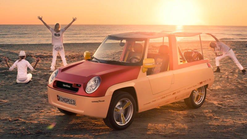 A concept car for the beach-going gadget freak