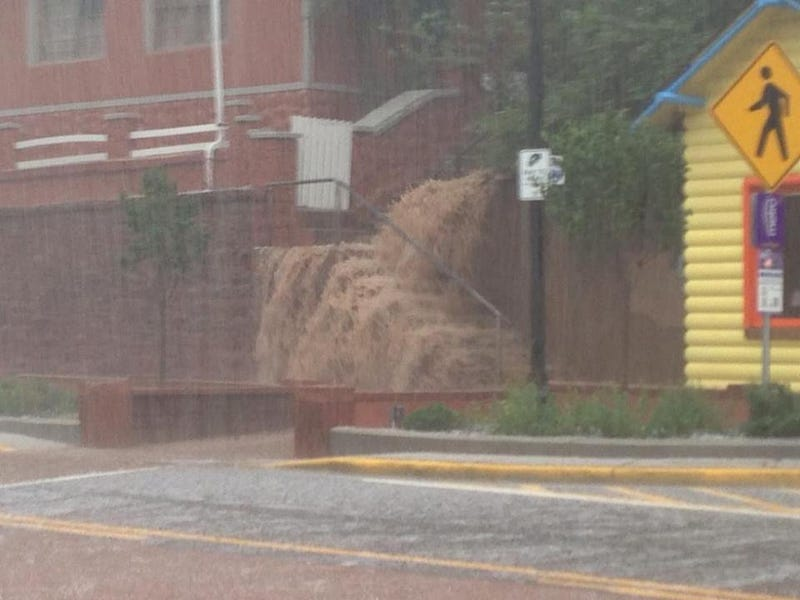 Storm Unleashes Crazy Torrent of Water in Colorado Springs