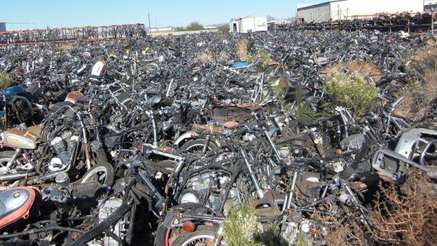 Arizona motorcycle junkyard