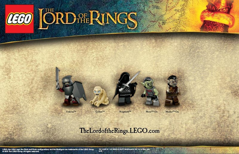Lord of The Rings LEGO sets turn Gollum into precious plastic