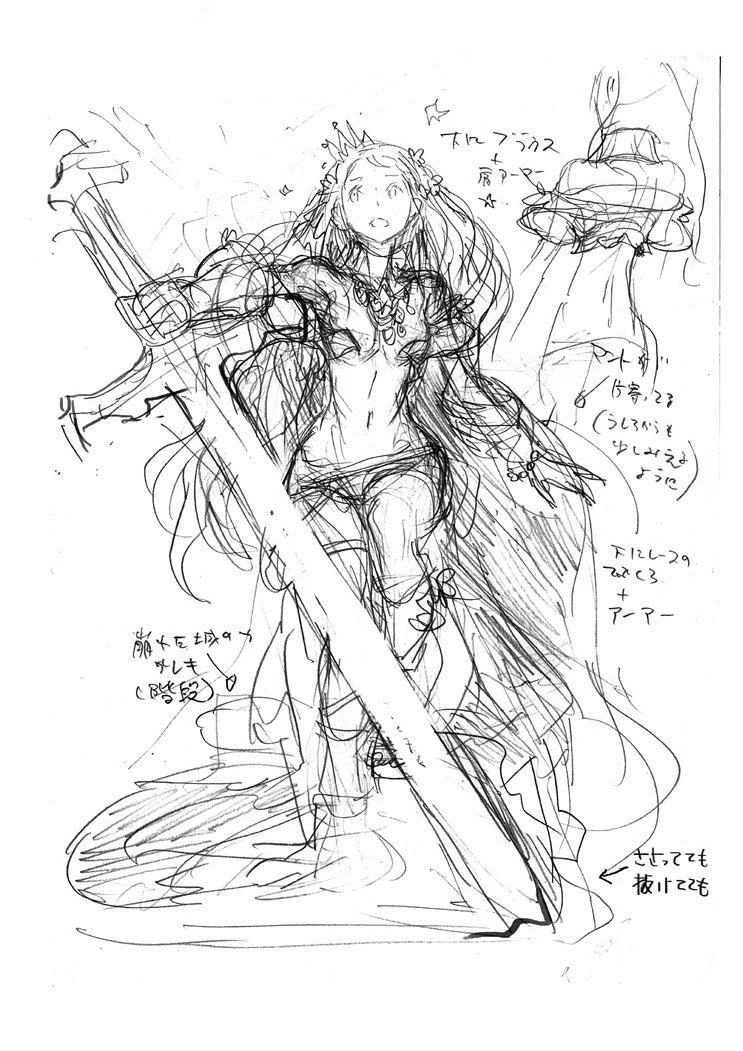 Concept Art Fit for Giant Swords and Silly Cleavage
