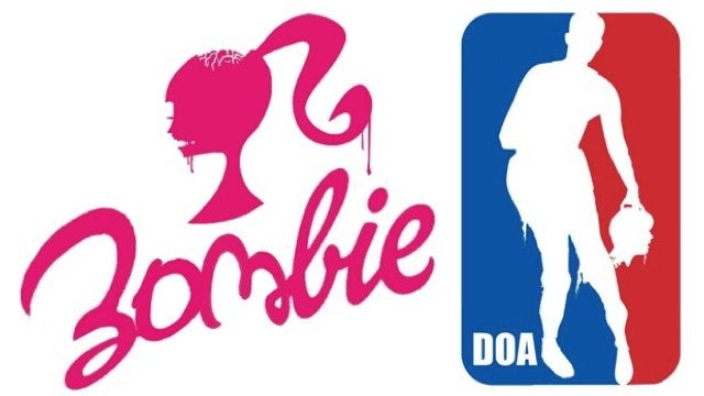 Logos redesigned for the impending zombie apocalypse