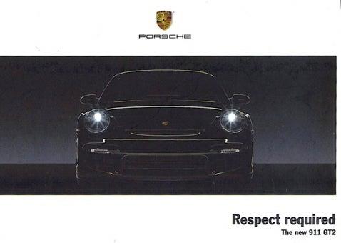 Porsche 911 GT2: Brochure Leak!