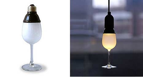 The LED Wine Glass Light Bulb, You Know, For Drunks