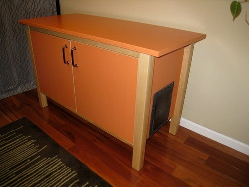 Disguise Your Cat's Litter Box in Furniture