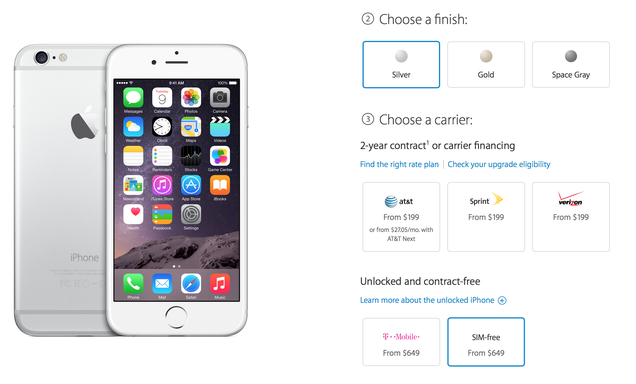 You Can Now Buy a SIM-free Unlocked iPhone 6 or 6 Plus From Apple