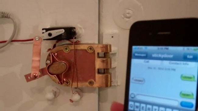 Hack Your Door to Lock and Unlock via Text Message
