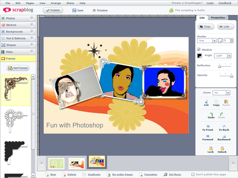 Screenshot Tour: Build an online scrapbook with Scrapblog