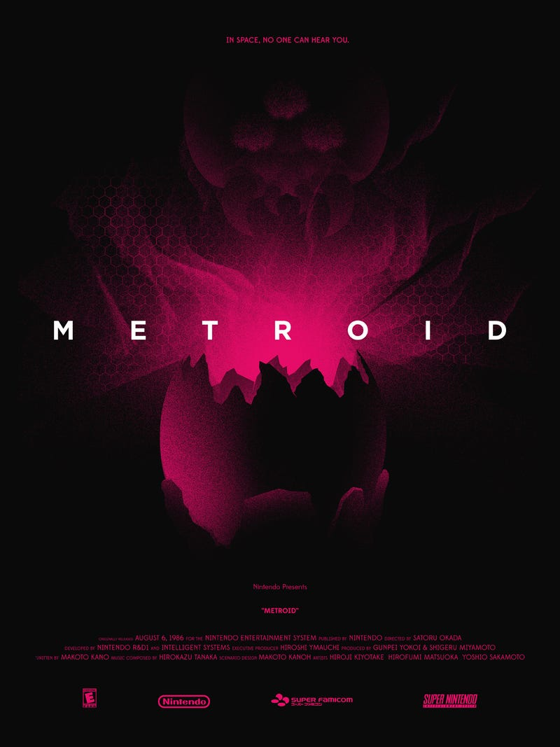This Creepy-Cool Metroid Poster Gives a Shout-out to Alien