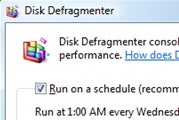 Defragment Multiple Drives on a Schedule in Vista