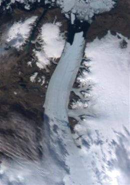 The Sound of Greenland's Glaciers Shattering