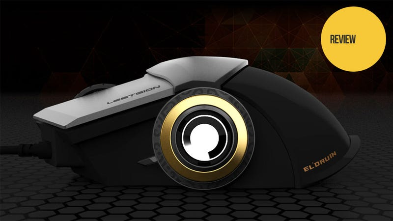 A Gaming Mouse That Rolls On Giant Gold Rims