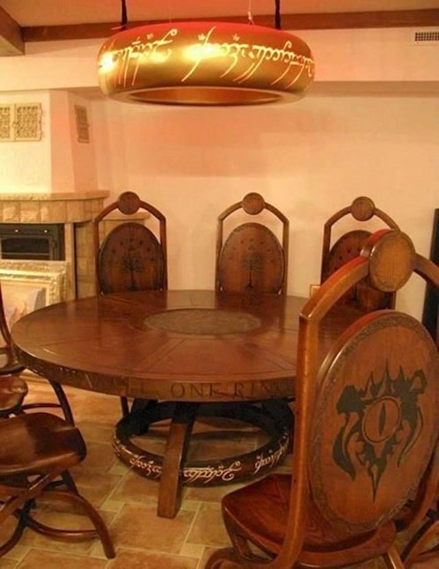 This Lord of the Rings-inspired dining room is perfect for Elevenses