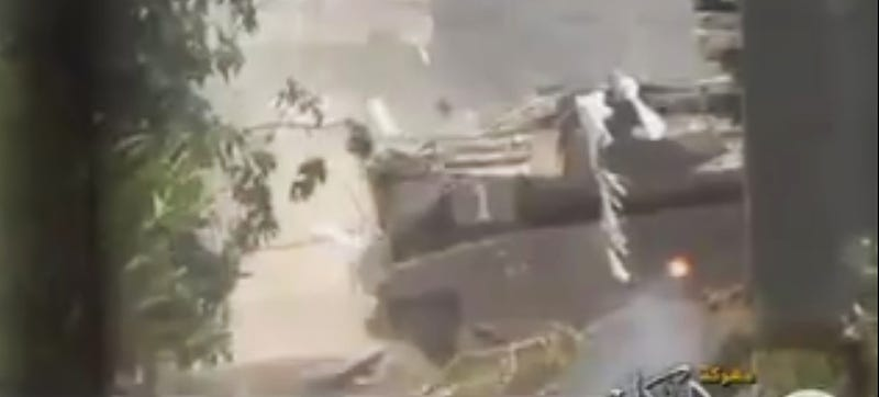 Watch An Active Protection System Destroy An RPG Fired At Israeli Tank