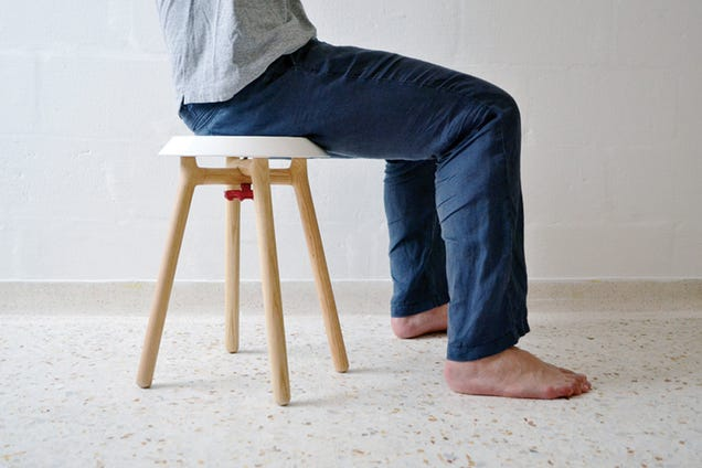 This Beautiful Stool Can Be Built From Four Parts in Seconds