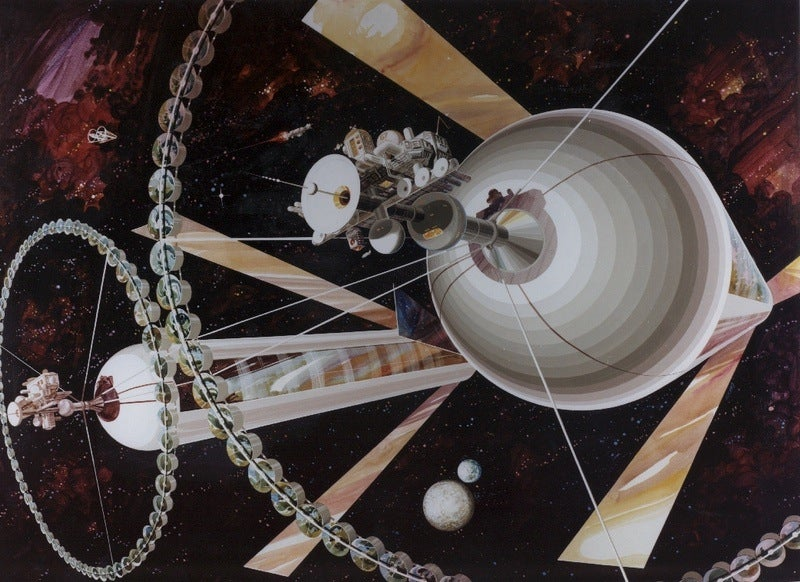 Decades-Old NASA Concept Art Imagined Slightly More People Living On Space Stations By Now