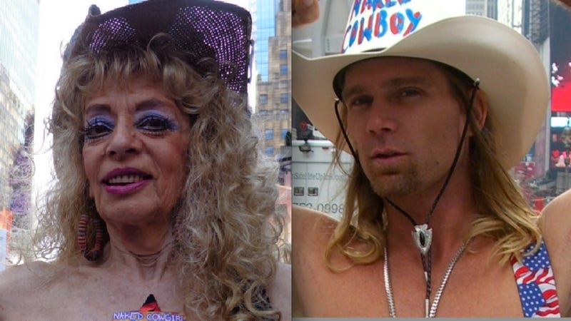 Naked Cowgirl On Naked Cowboy Feud: 'He's Like a Pimp Out There'