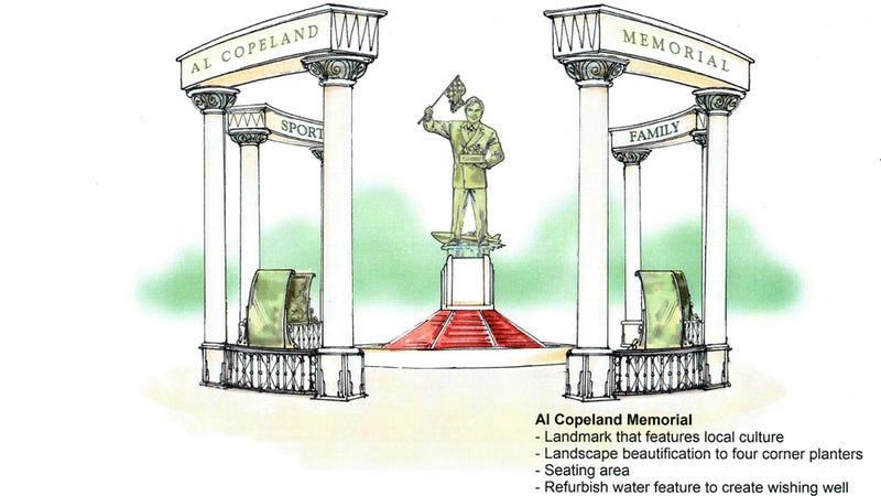 Popeyes Founder's Kin Seek Elegant Memorial Statue Involving Speedboat