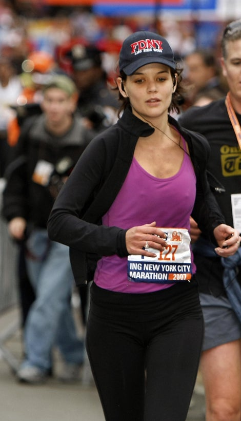 Did Katie Holmes Run 26 Miles Without A Bra?
