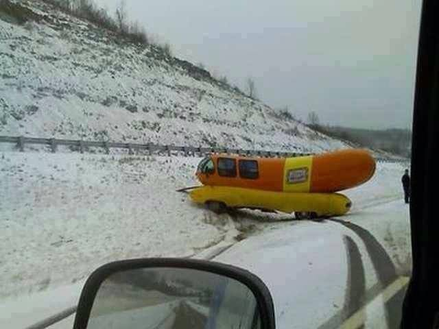 It can be hard to control your weiner when it's slippery