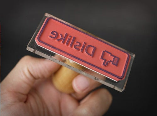 Facebook Like and Dislike Button Rubber Stamps Now Available